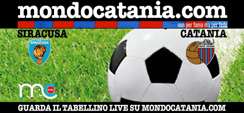 Tabellino finale siracusa catania 0 1 for Mondo catania