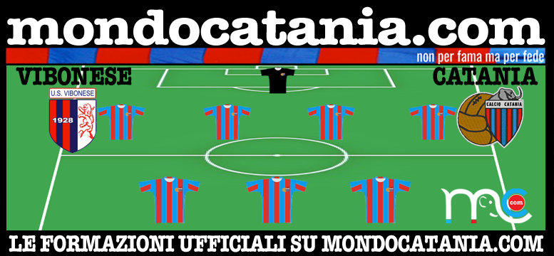 Ufficiale formazioni vibonese catania for Mondo catania